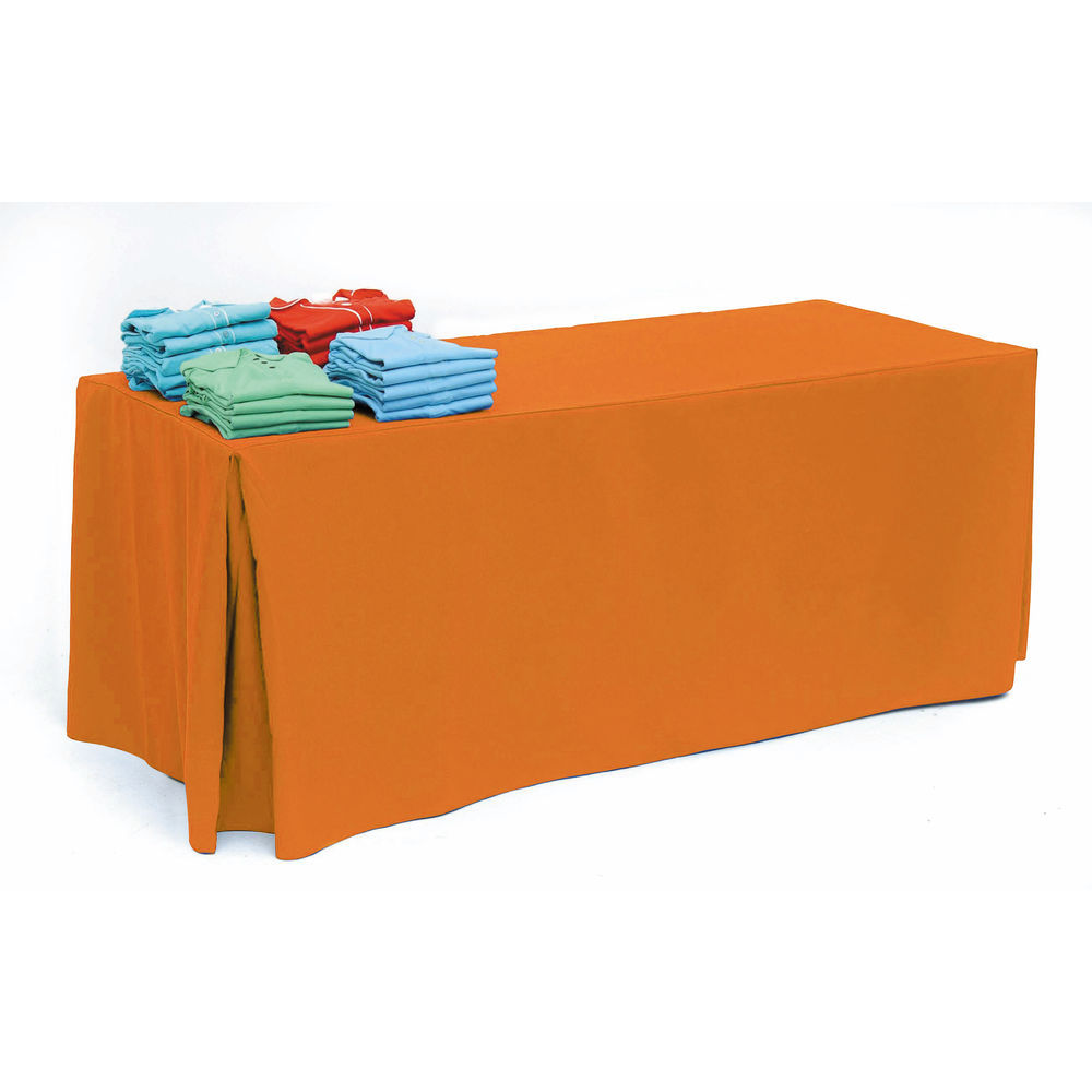 225 & Neon Orange Colorful Tablecloths for 8ft Tables
