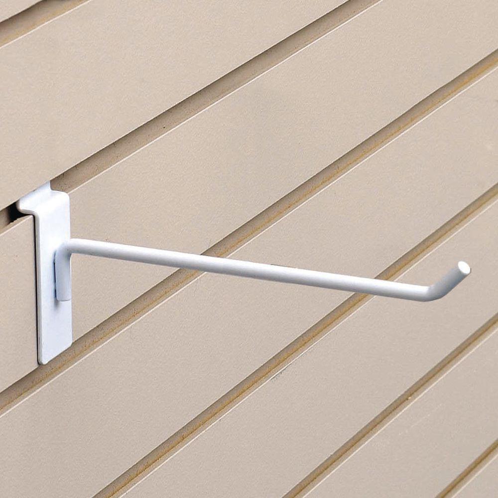 "8"" White Slatwall Hangers"