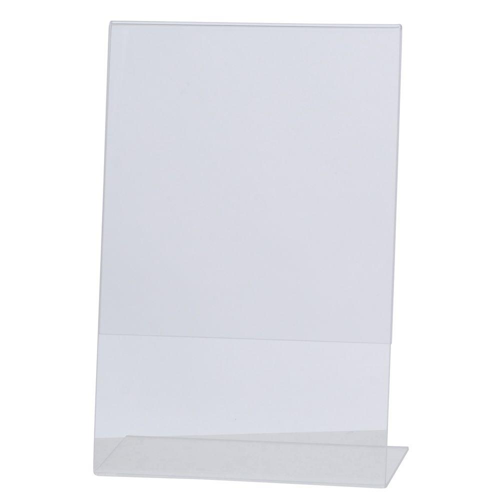 "HUBERT® Clear Acrylic Sign Holder 5 1/2""L x 8 1/2""H Vertical"