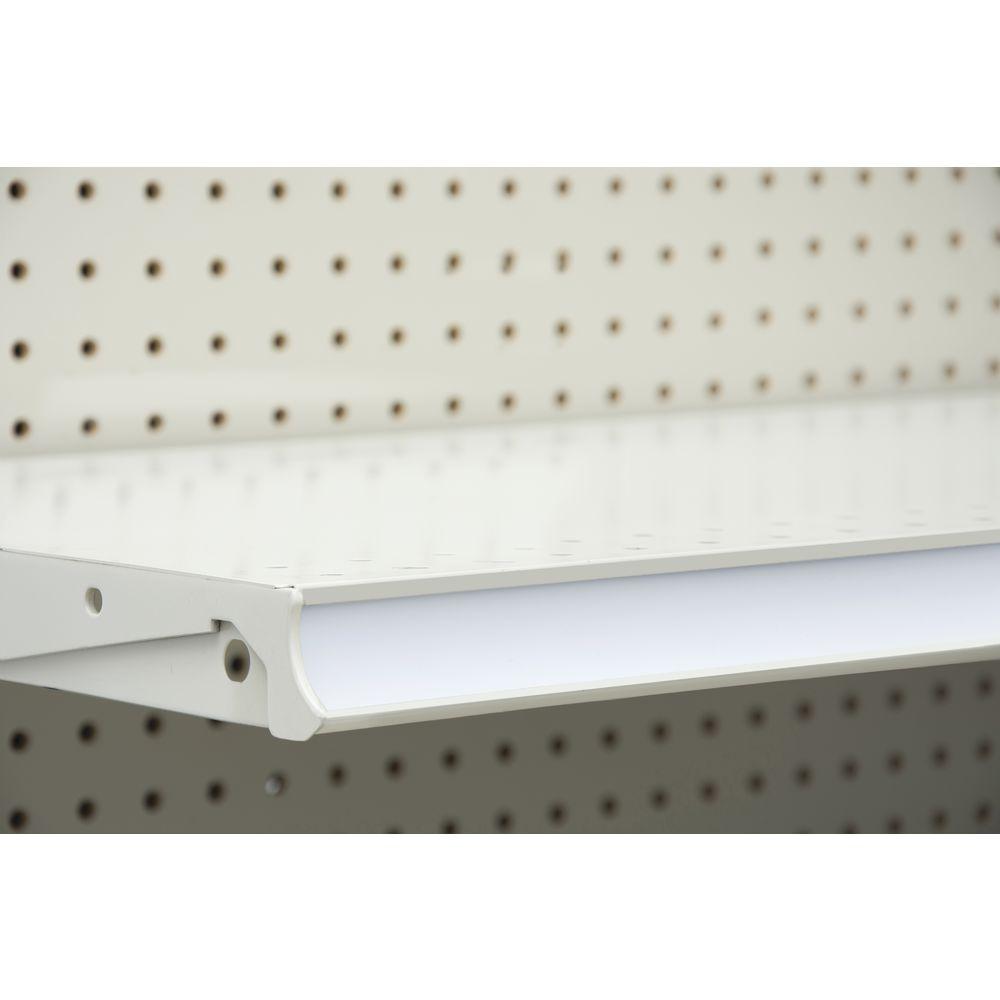 White Cut To Length Shelf Molding Cover Rolls Vinyl