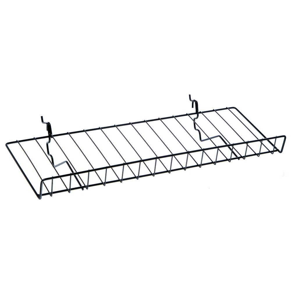 "23"" (L) Black Slatwall Wire Shelves"
