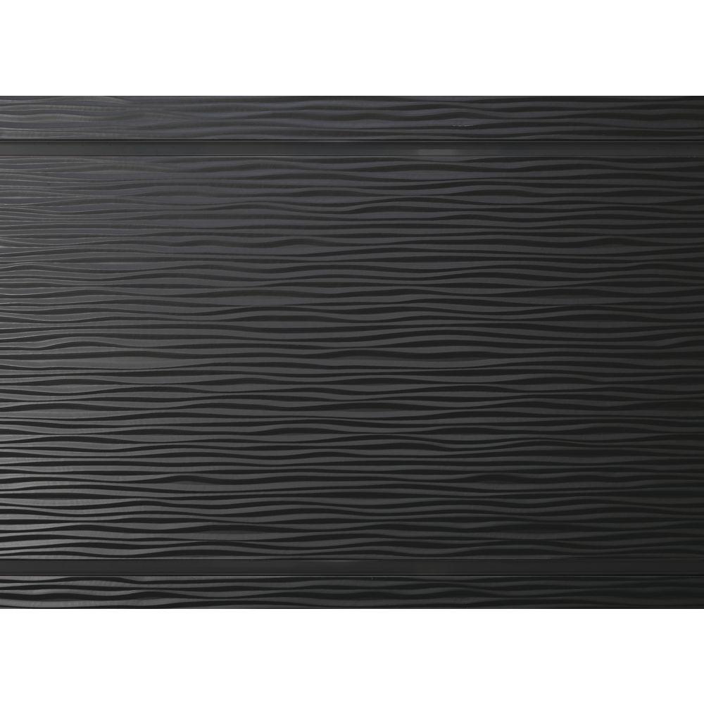 3d Black Vinyl Slatwall Panel 4 W X 8 H