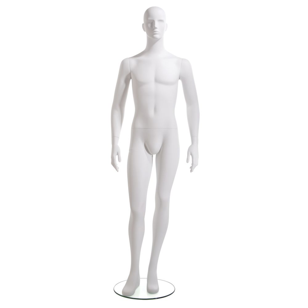 Arms to Side Fiberglass Mannequin, Male