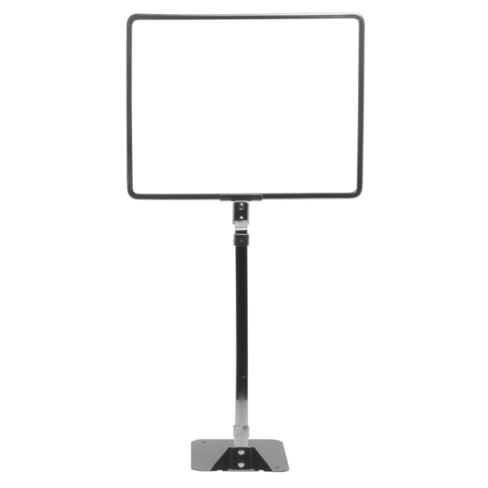 """11 x 8 1/2 Sign Frame 14"""" - 22"""" Adjustable Stem"""