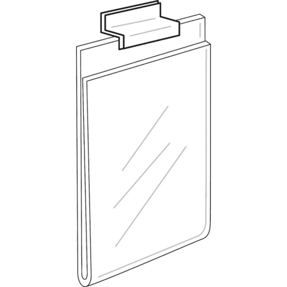 Slatwall Acrylic Sign Holder