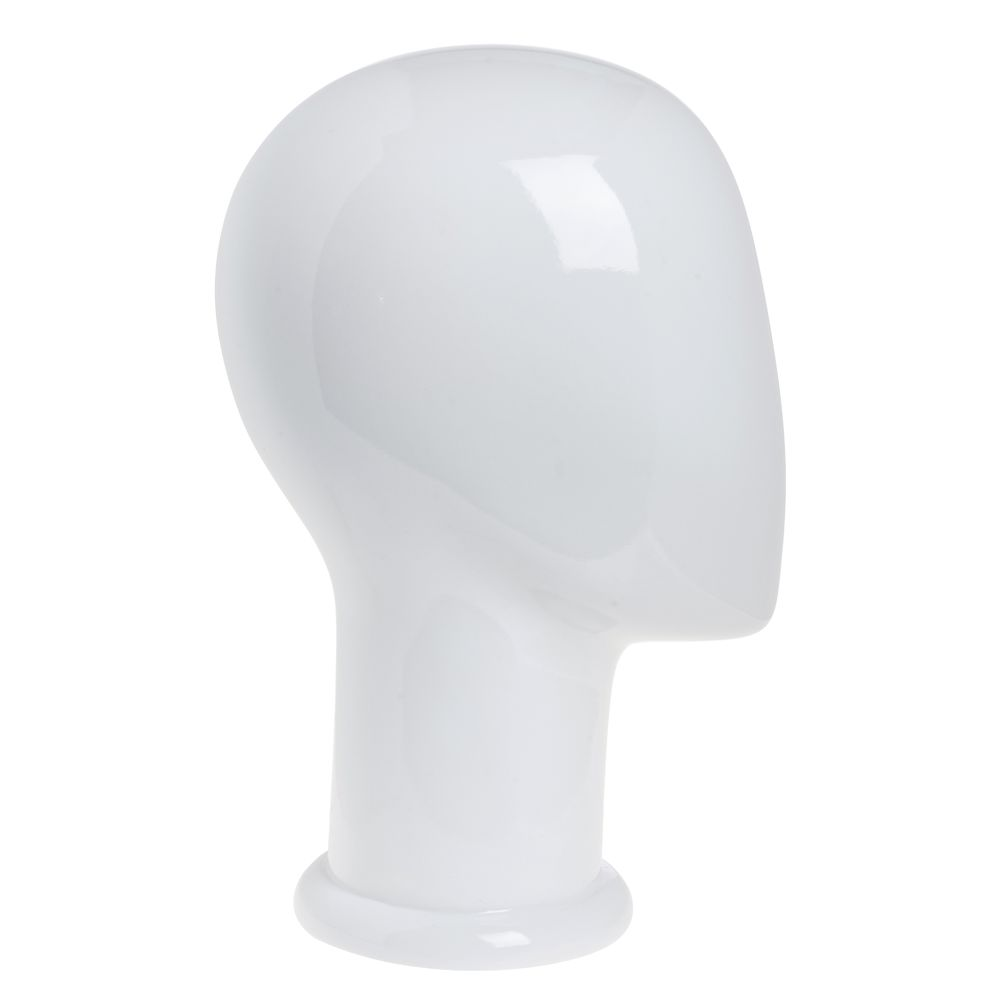 "HEAD, FEMALE, ABSTRACT, GLOSS WHITE, 12""H"