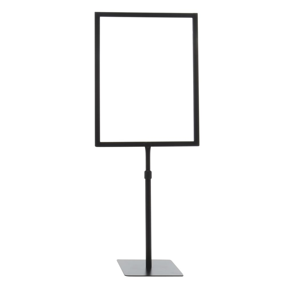 FRAME, SIGN, 11X14, BLACK, ADJ STEM, SQ BASE