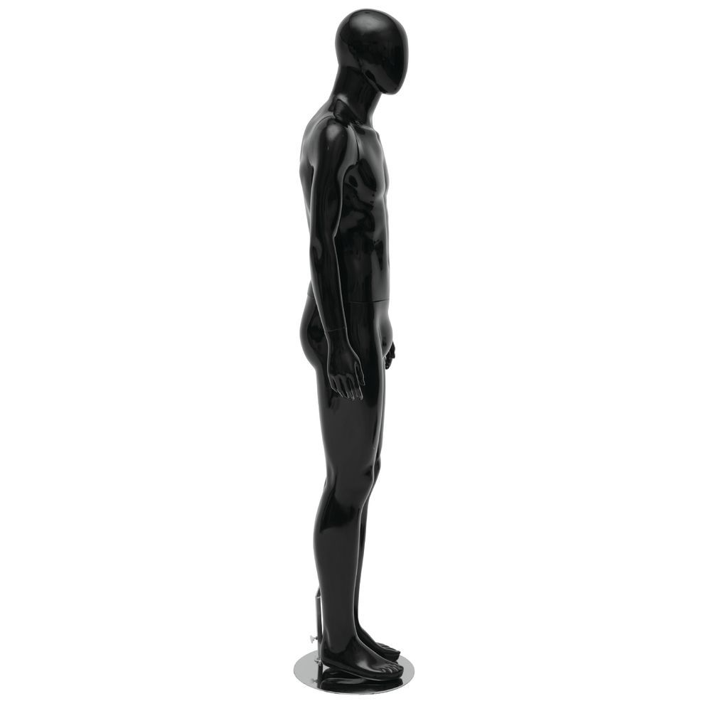 Arms to Side Black Male Mannequin