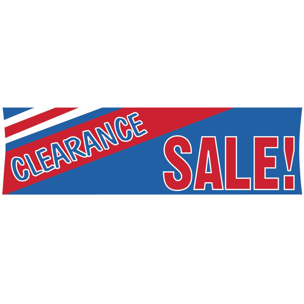 """Clearance Sale"" Outdoor Banner, 10'"