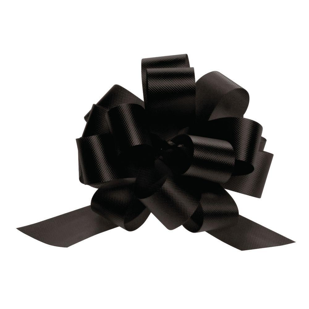 4 (W) Black Pull Bows