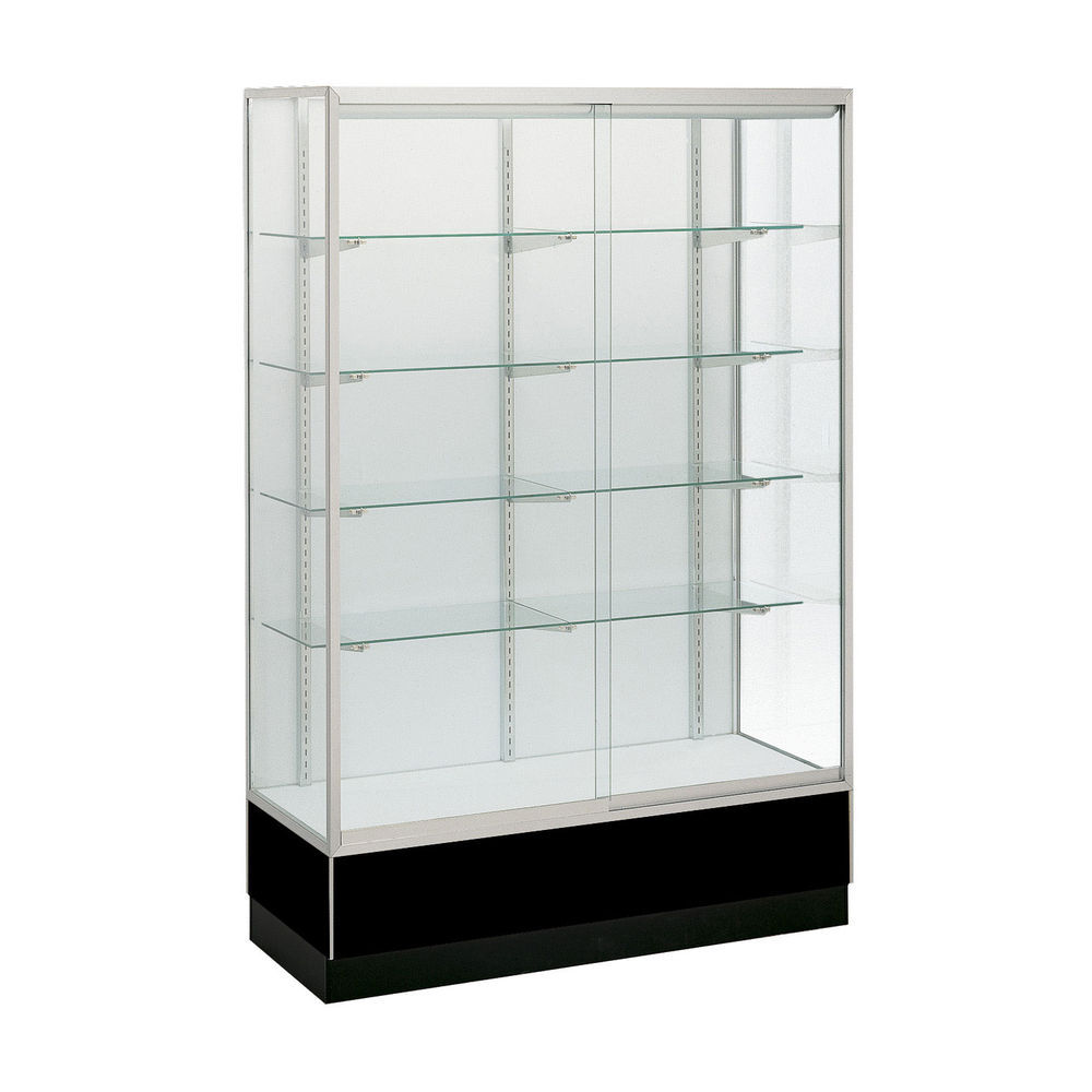 Mirrored-Backing Retail Glass Display Case