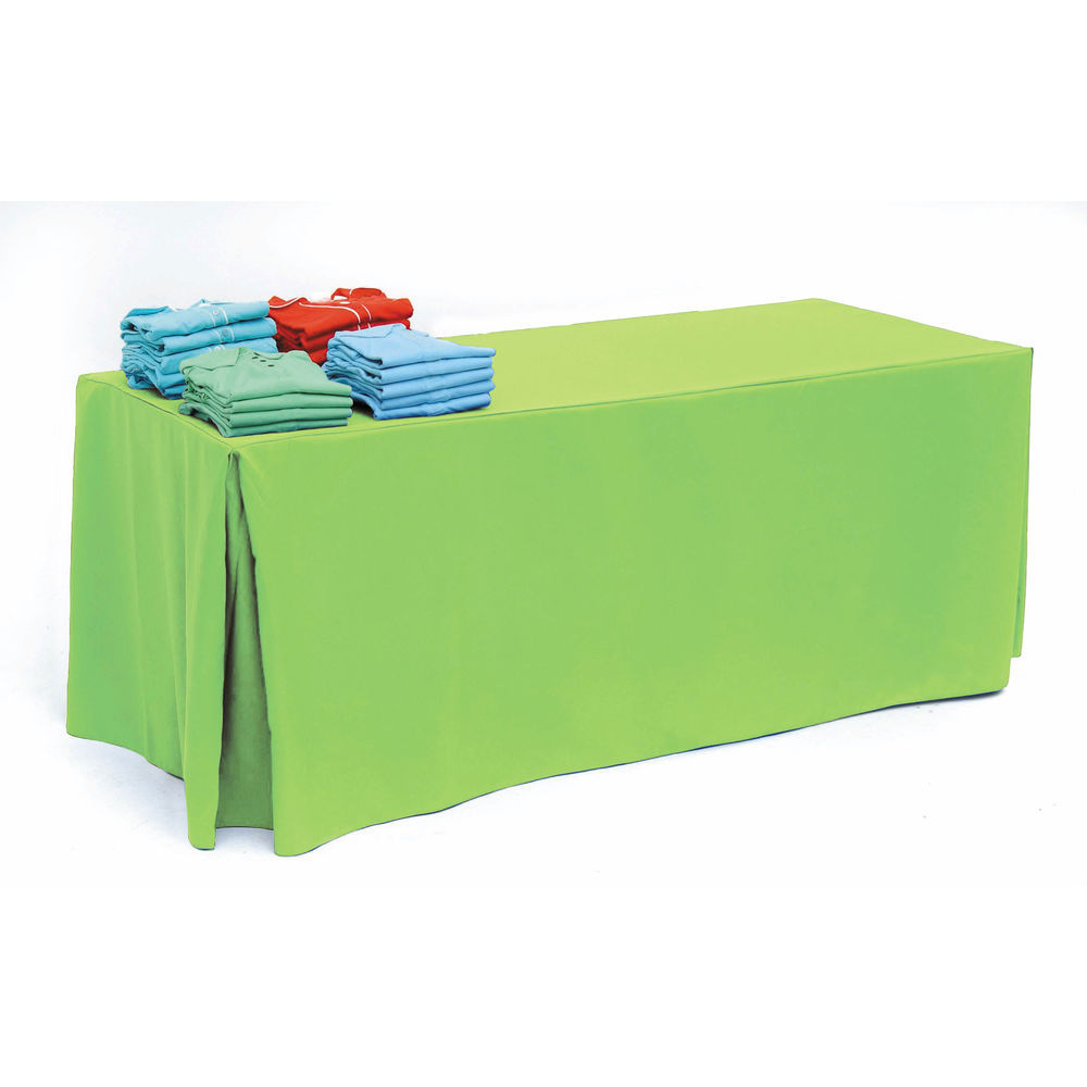 Lime Pleated Tablecloth for 8ft Tables