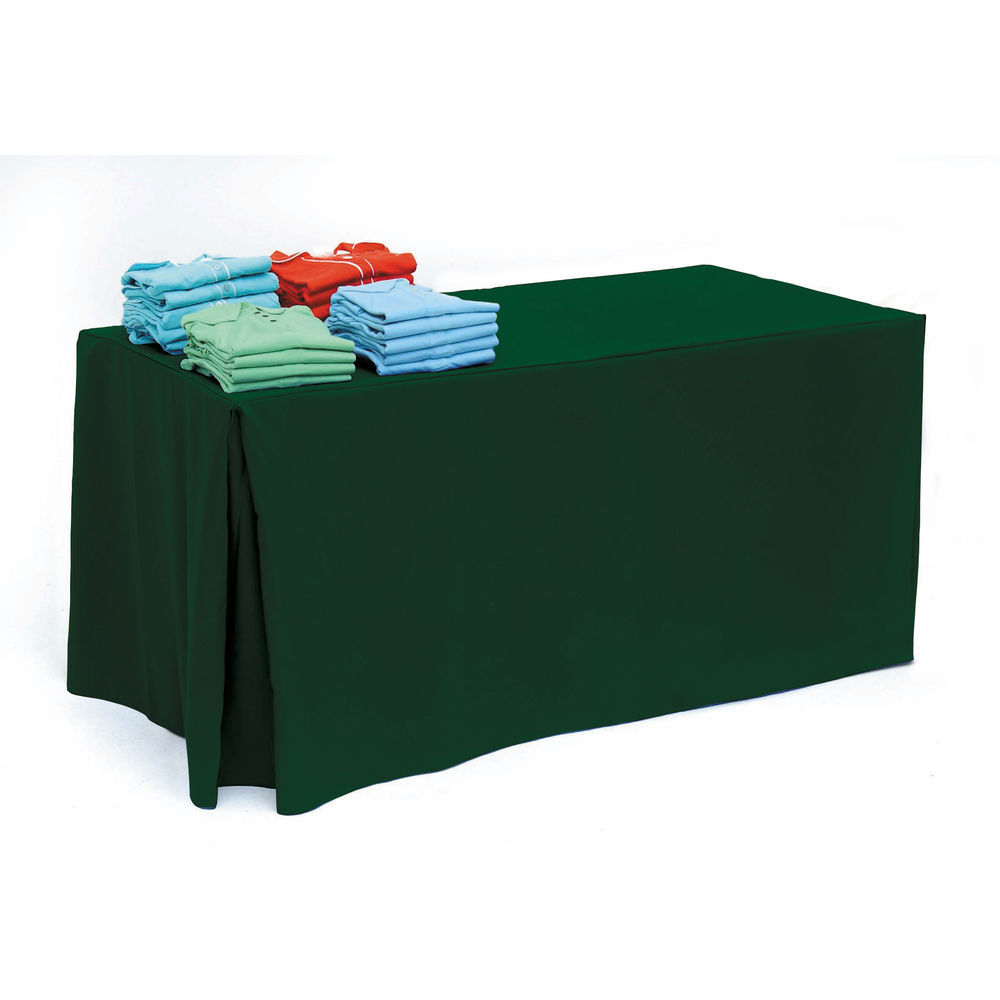 Hunter Green Fitted Rectangle Tablecloth for 6ft Tables