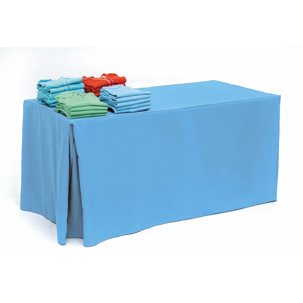 Ice Blue Fitted Tablecloth for 6ft Tables