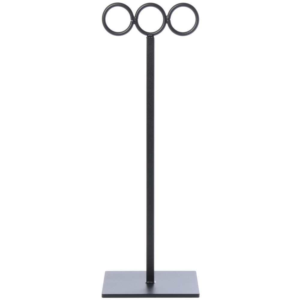 """Black Texture Scarf Stand, 16"""" (H)"""