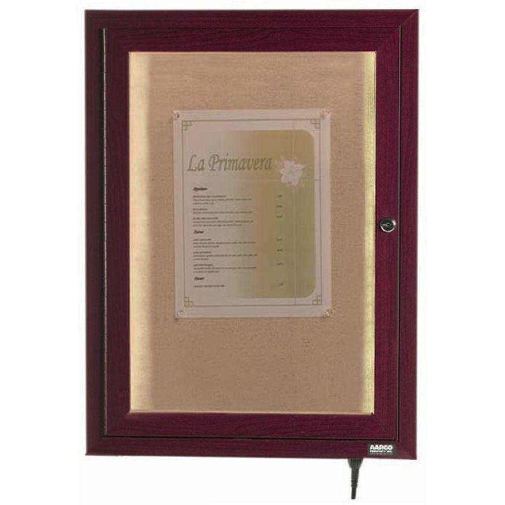 Indoor outdoor lighted display case cherry for Exterior display case