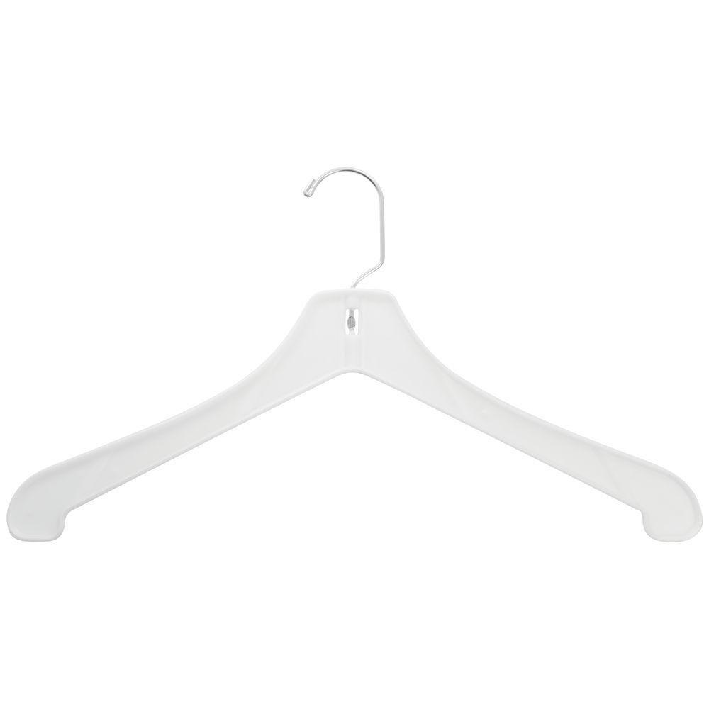 Heavy Plastic Hangers Hi Impact White