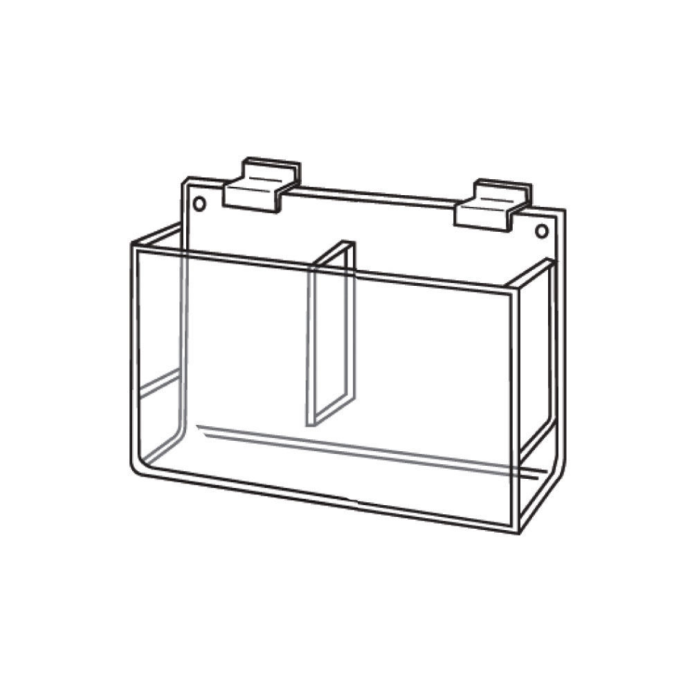 Clear Acrylic Brochure Holders with Double Pockets
