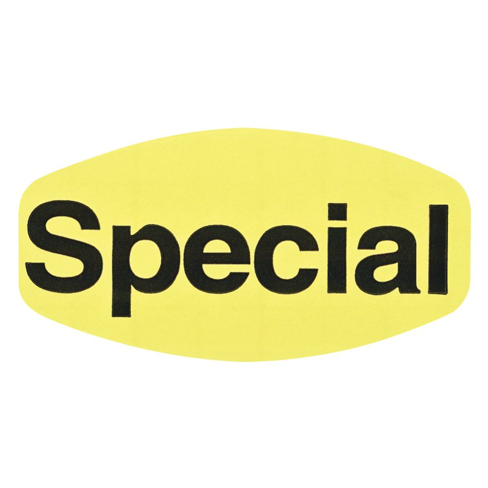 Special Fluorescent Grabber Grocery Store Labels