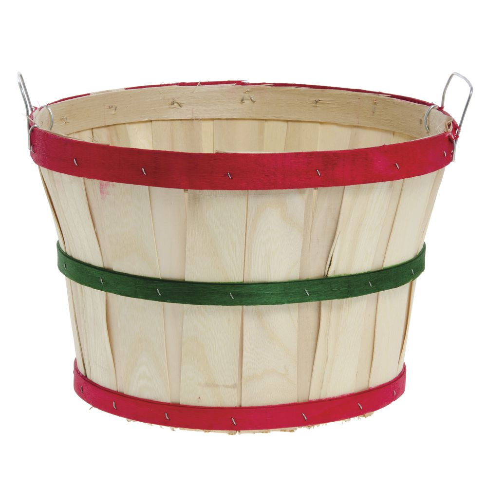 1 2 Bushel Basket Red Green Red Bands