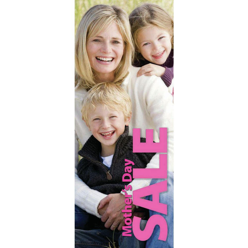 """BANNER, MOTHERS DAY, POLY, 24""""WX60""""H"""