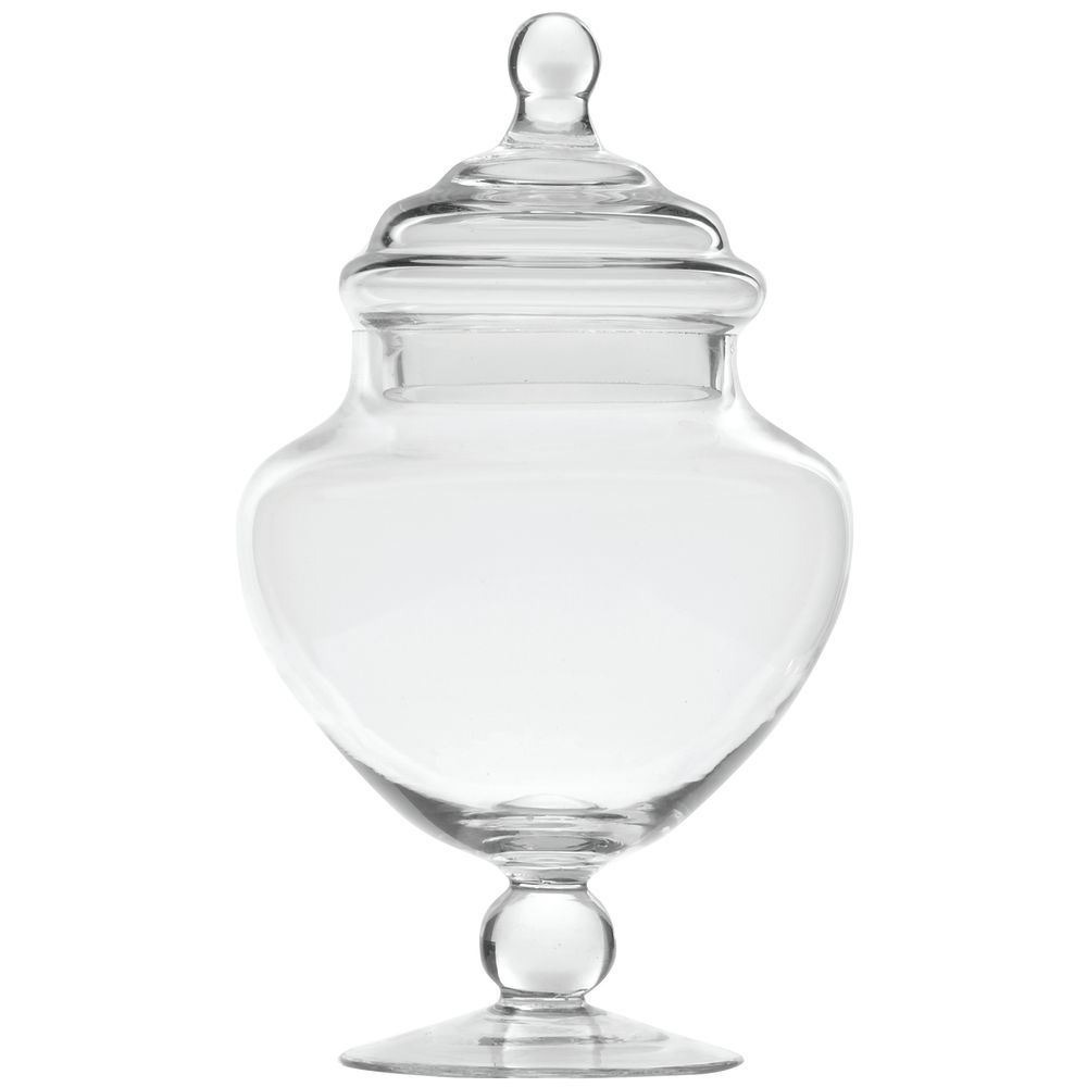 JAR, APOTHECARY, SMALL, W/LID, 5DIA X 9H