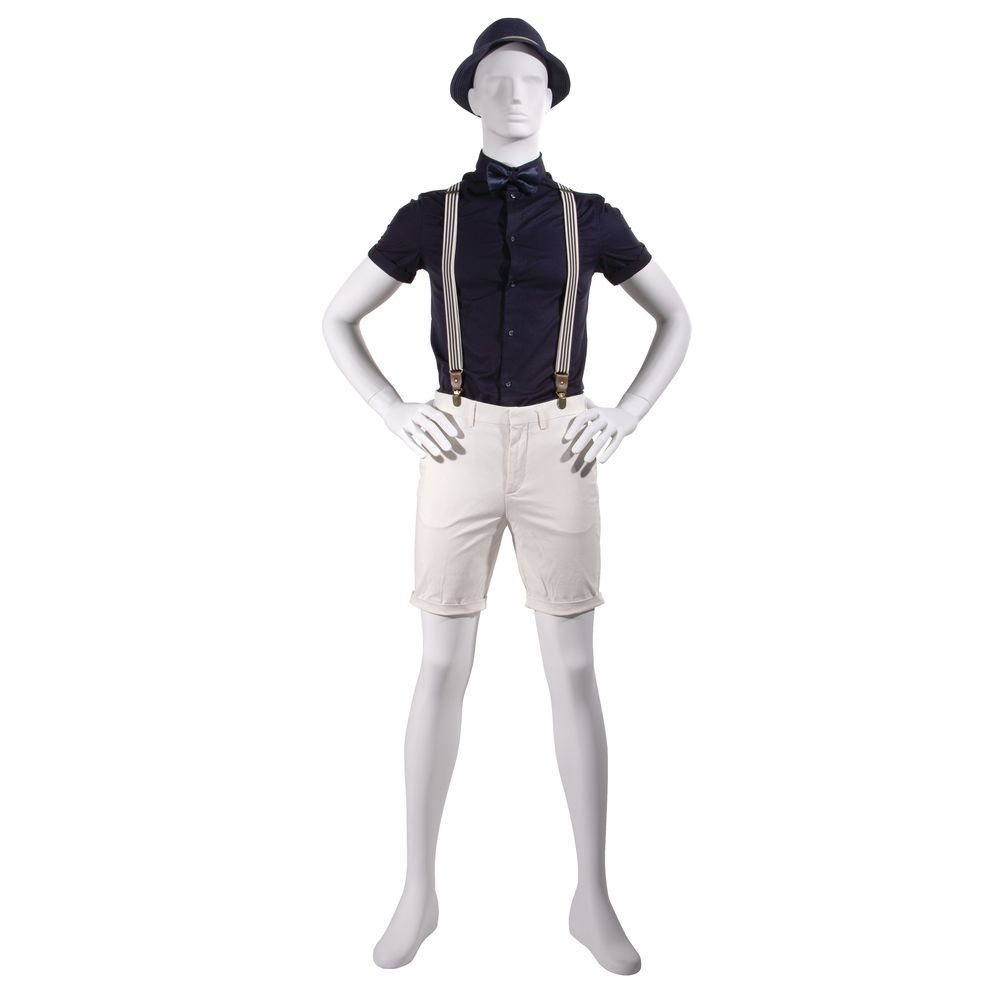 Hands on Hips Fiberglass Mannequin, Male