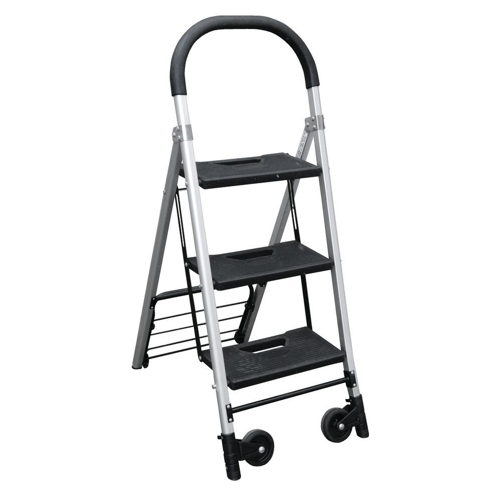 "LADDER/CART, 3 STEP, 4""CASTERS, 18WX3DX50H"