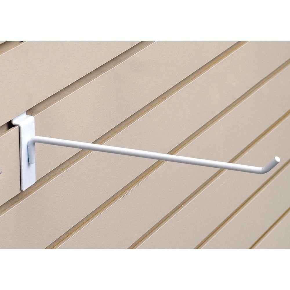 "12"" White Slatwall Display Hooks|12"" White Slatwall Display Hooks"