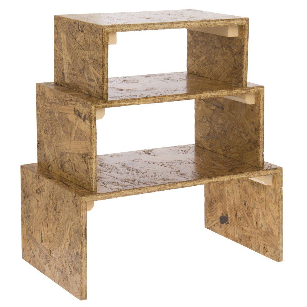 OSB Wood Display Risers