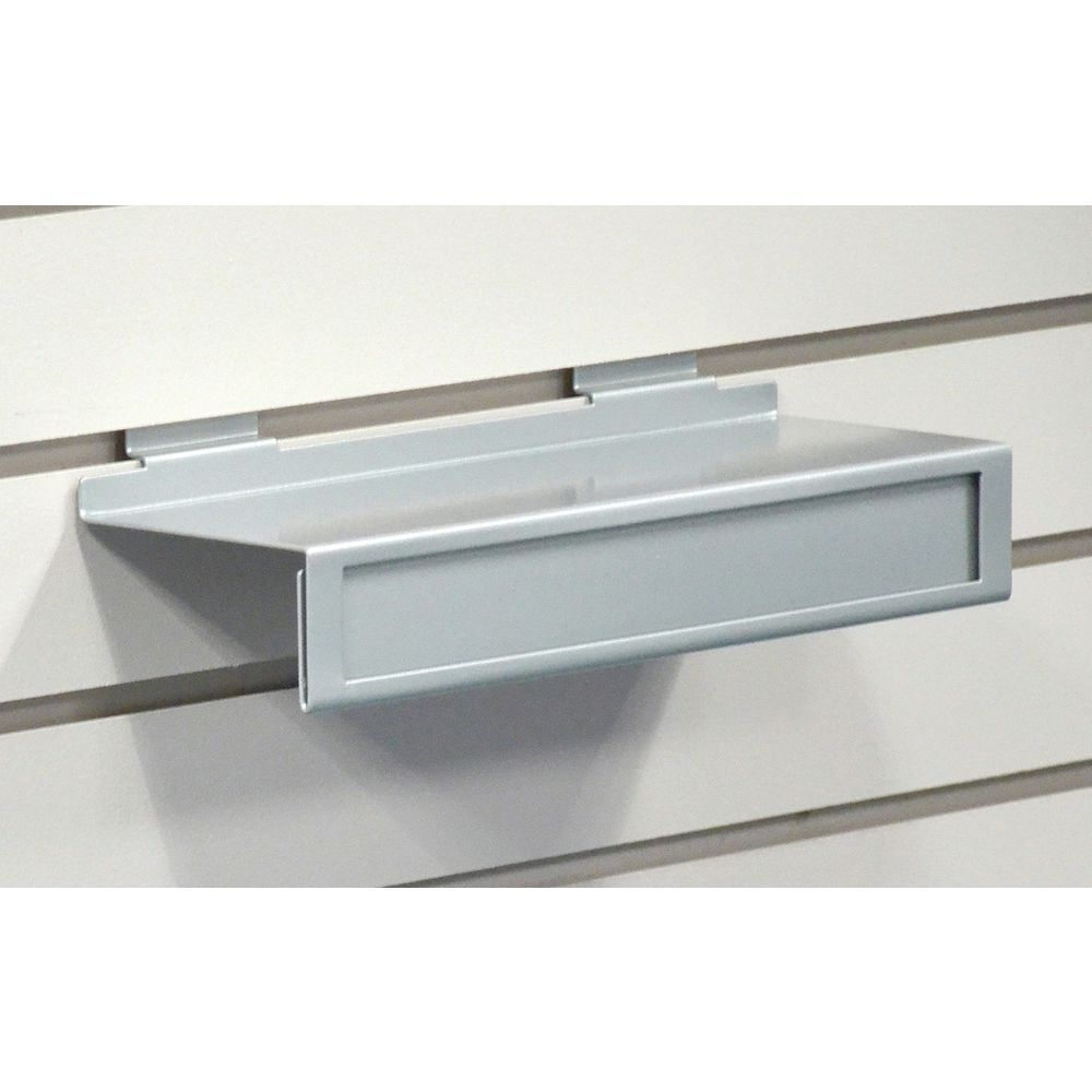 Slatwall Shoe Shelf Comes With Sign Channel to Exhibit Important Information