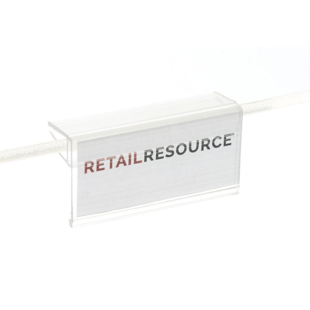 HOLDER, GLASS SHELF, 2W X 7/8H, CLR, (50/BG)