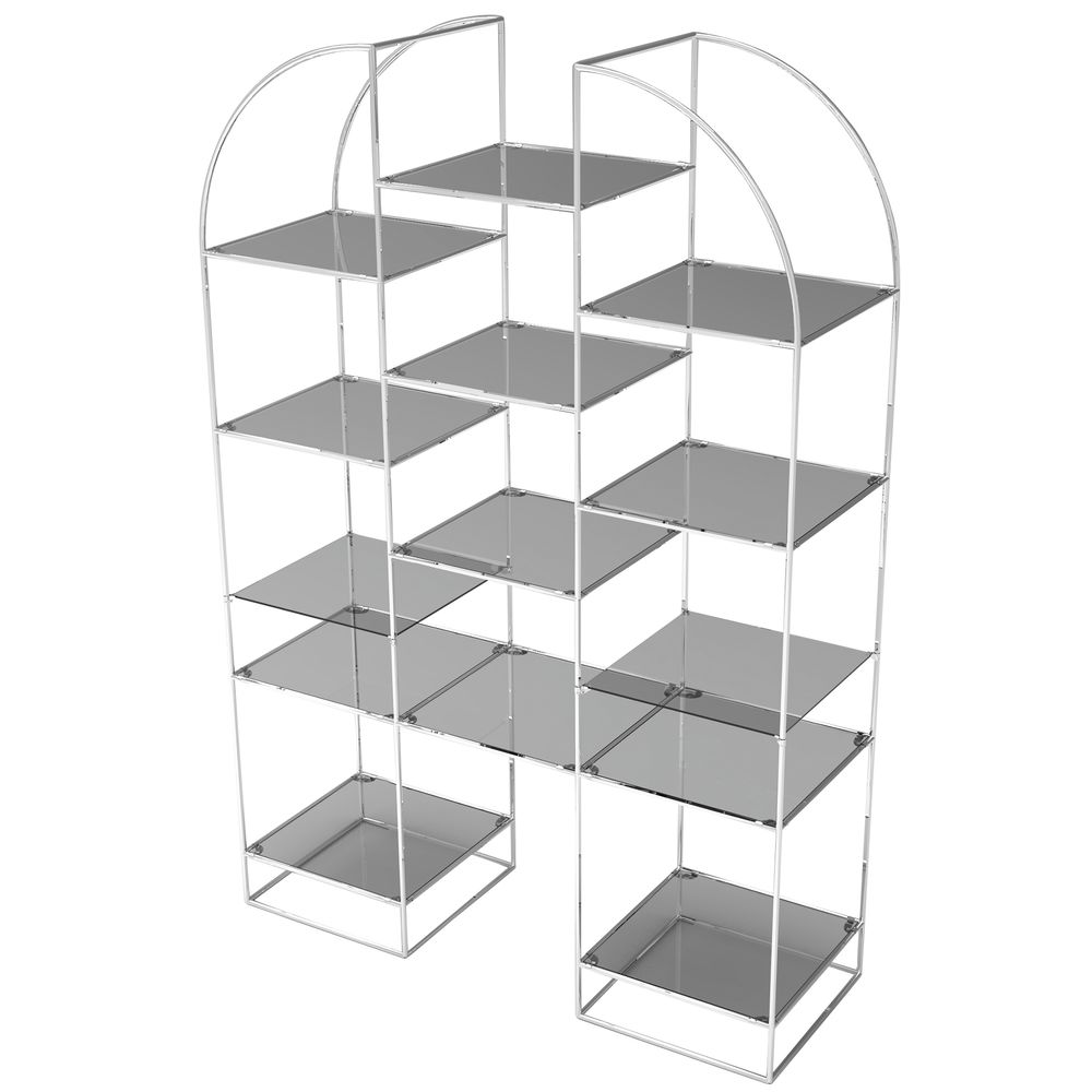 Glass Shelving Display Construct Quickly