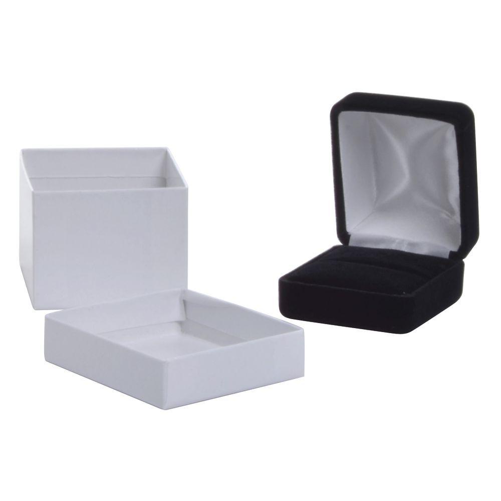Ring Box Plush Black Velvet