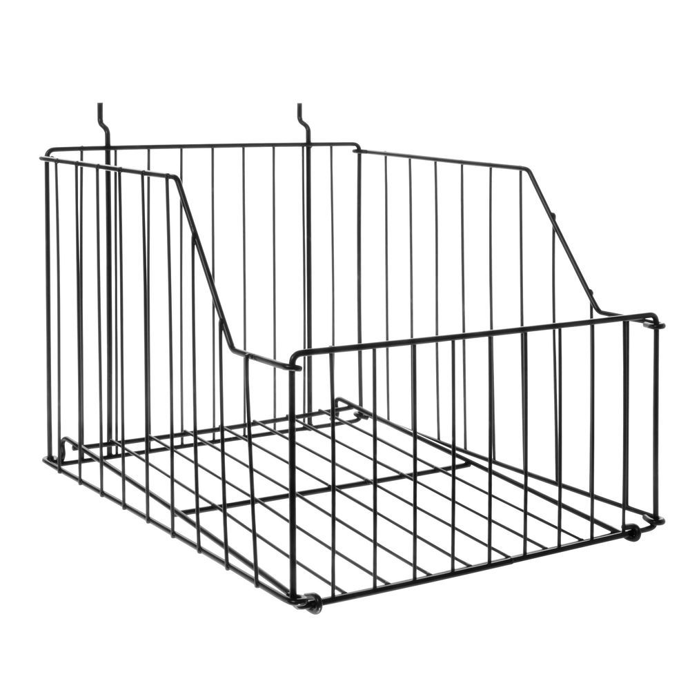 BASKET, WIRE, PEGBD, COLLAPSIBLE, 12W, BLK