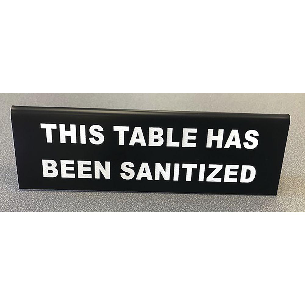 "TABLE TENT, 2.5""HX8""L, BLK/WH, CUSTOM ENGR"