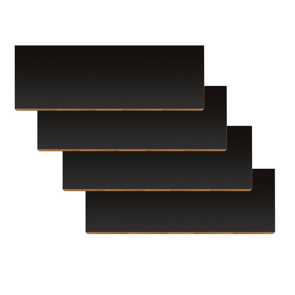 "47 3/4"" x 10"" Gondola Shelves, Black"